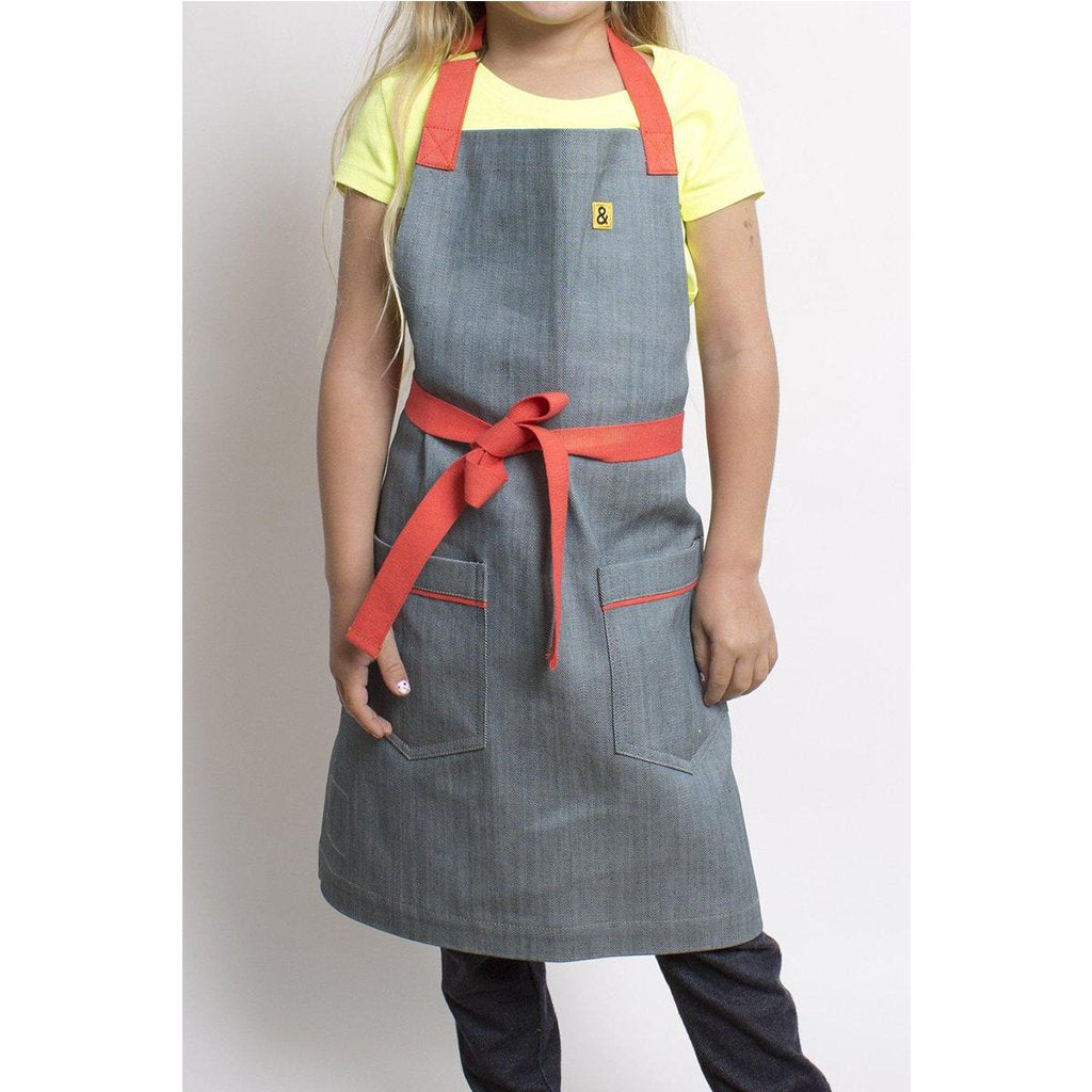Hedley and Bennett - Addy Kids Apron (4-6) - Made with Japanese Denim