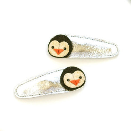 Hello Shiso - Penguin Hair Clips - Designed in Berkeley, CA