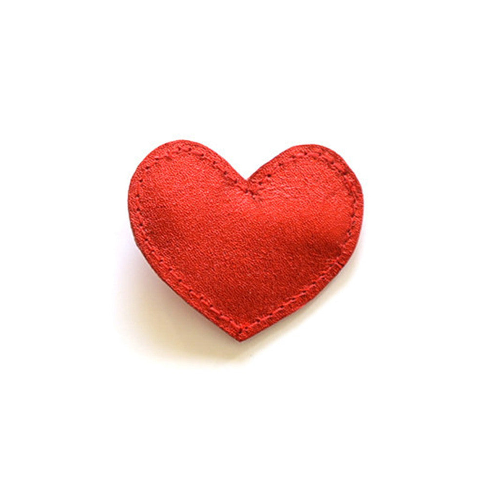 Hello Shiso - Big Red Heart Hair Clip - Designed in Berkeley, CA