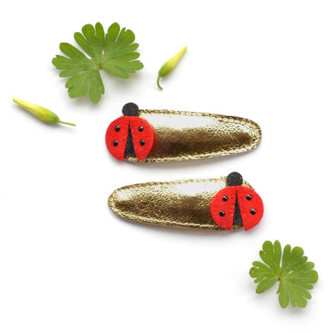 Hello Shiso - Ladybug Hair Clips - Designed in Berkeley, CA