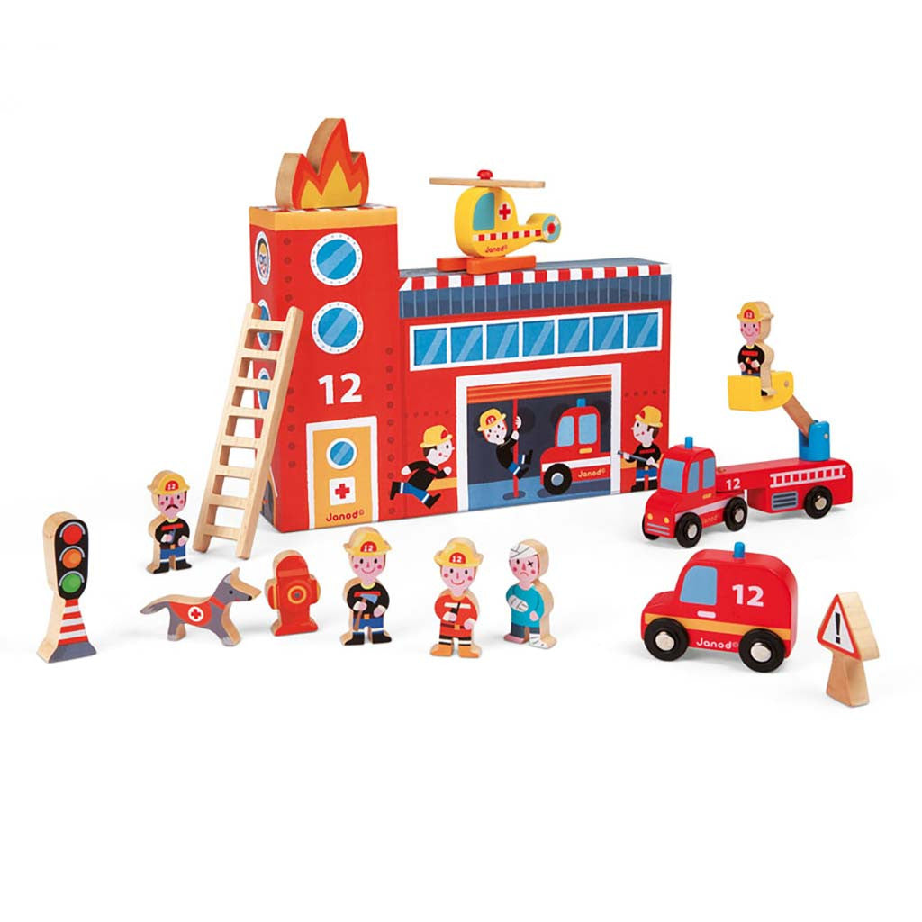 janod story box firefighters set full