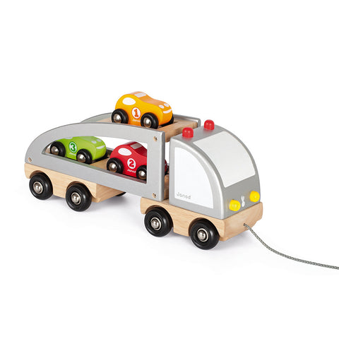 Janod - Wooden Multi Cars Truck