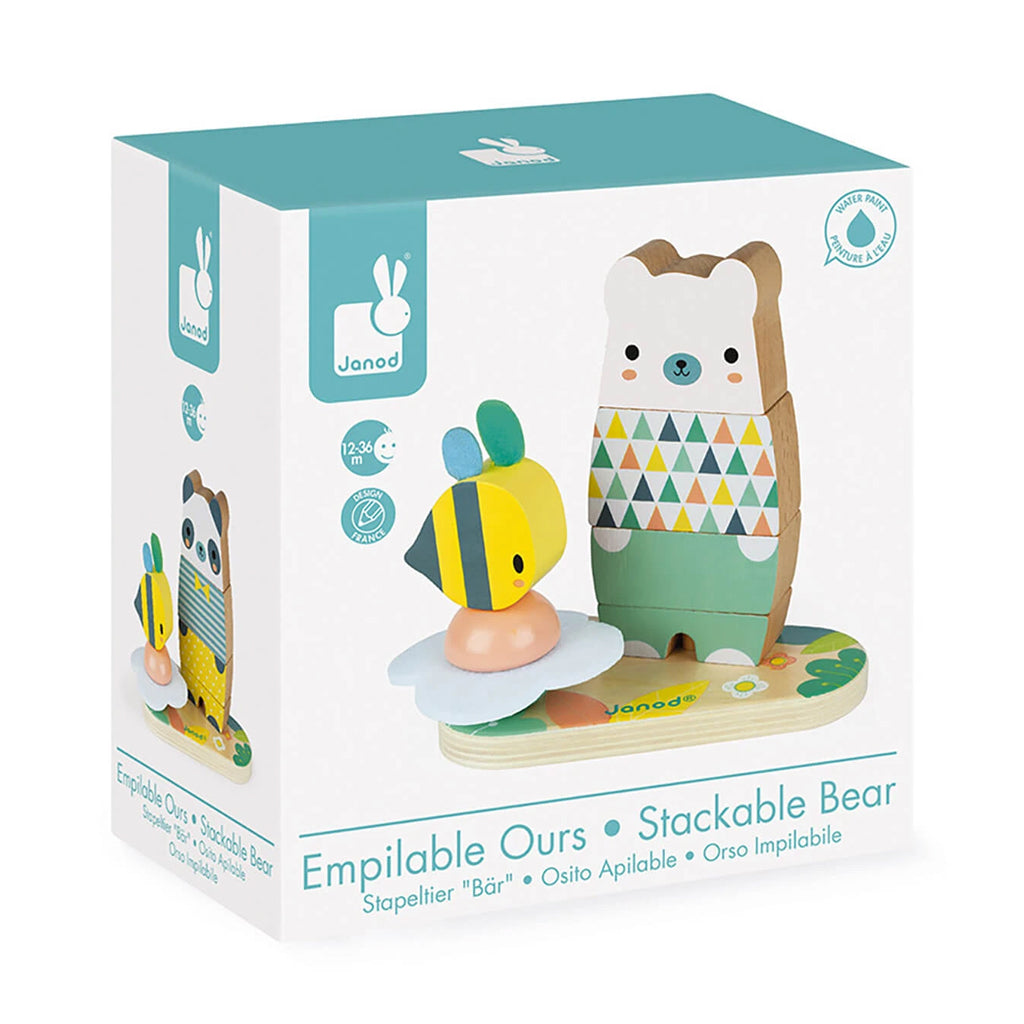 Janod - Pure Wooden Stackable Bear | Mapamundi Kids