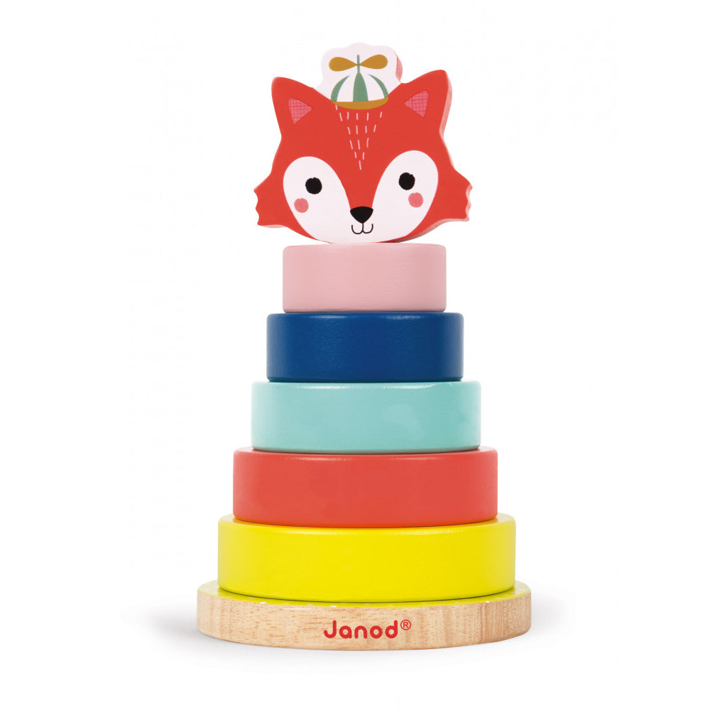 Janod - Wooden Forest Fox Ring Stacker