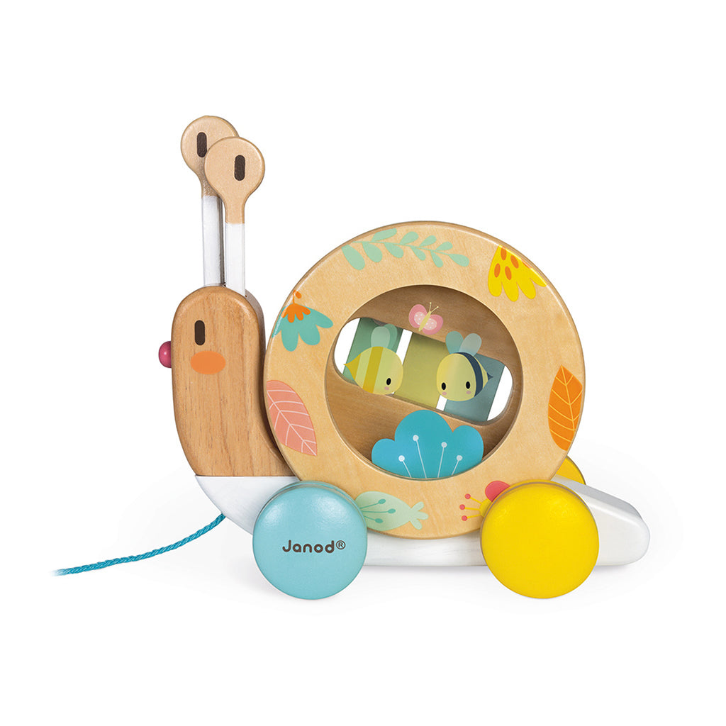 Janod - Pure Musical Snail Pull Toy