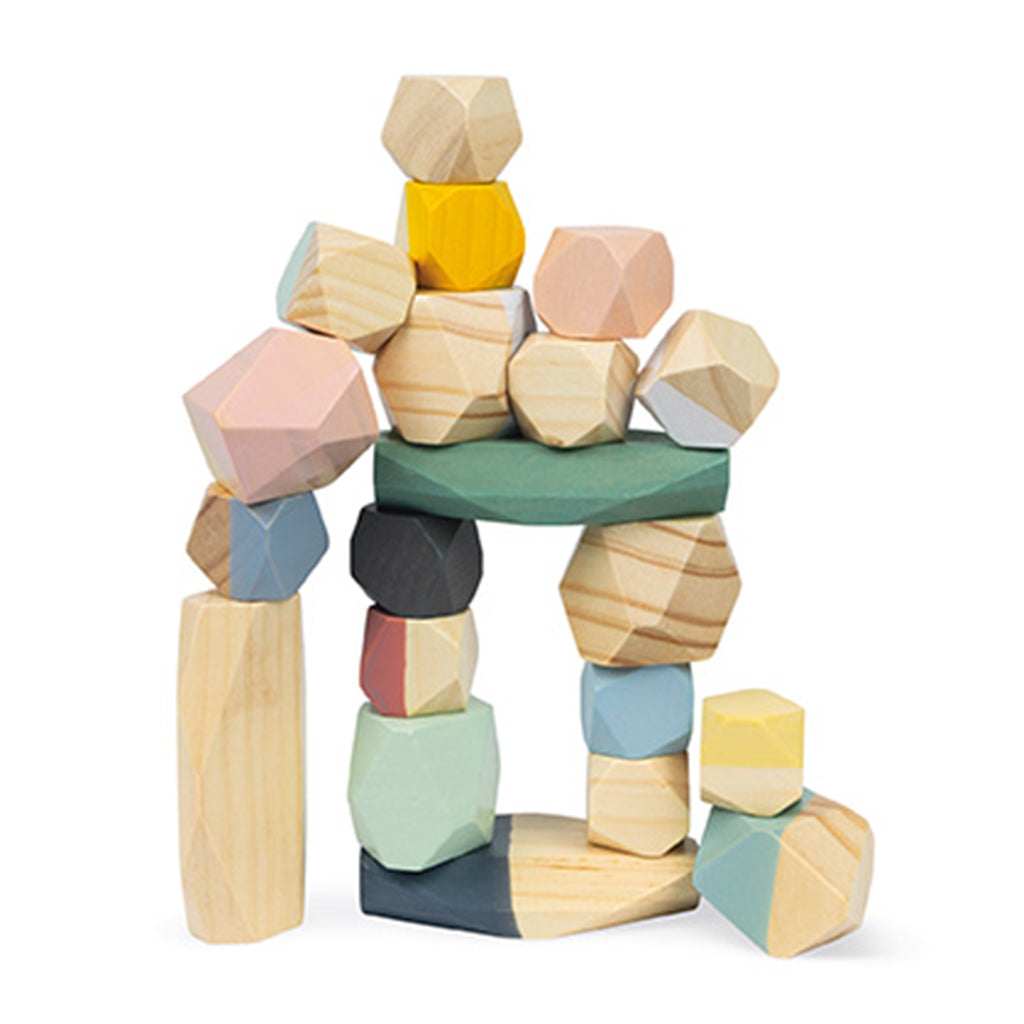 Janod - Wooden Stacking Stones | Mapamundi Kids