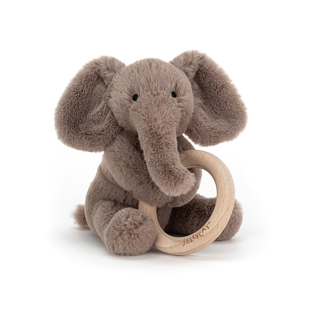 Jellycat UK - Smudge Elephant Wooden Ring Toy | Mapamundi Kids