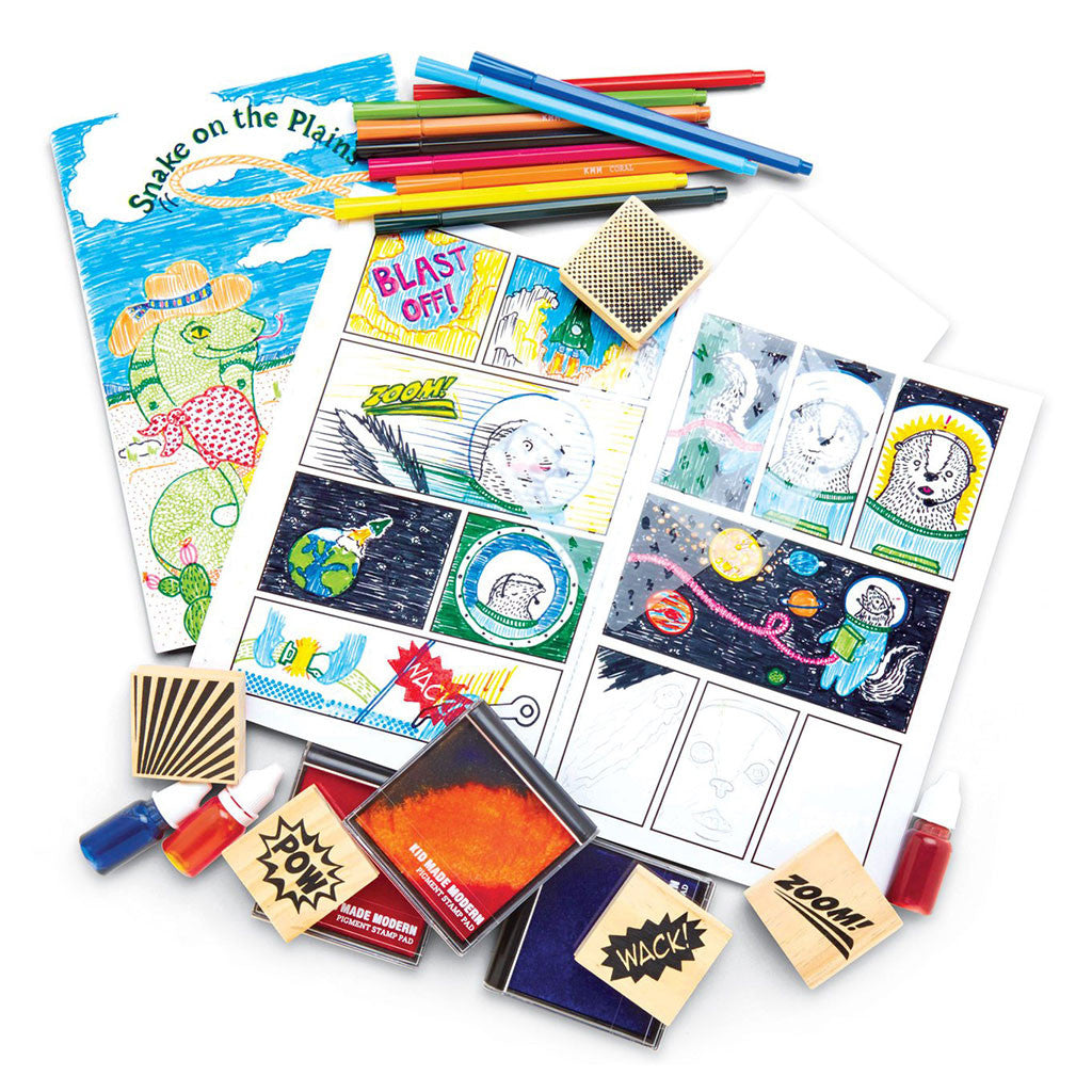 Kid Made Modern - Comic Book Kit - Contents