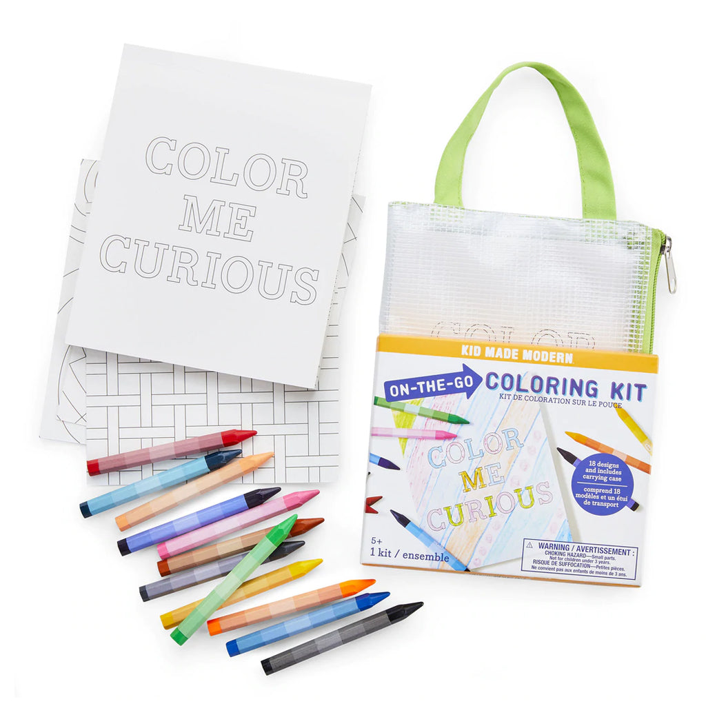 Kid Made Modern - On-The-Go Coloring Kit