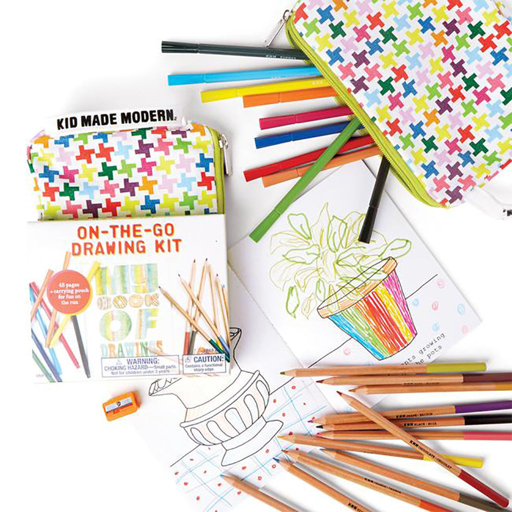 Kid Made Modern - On-The-Go Drawing Kit - Contents