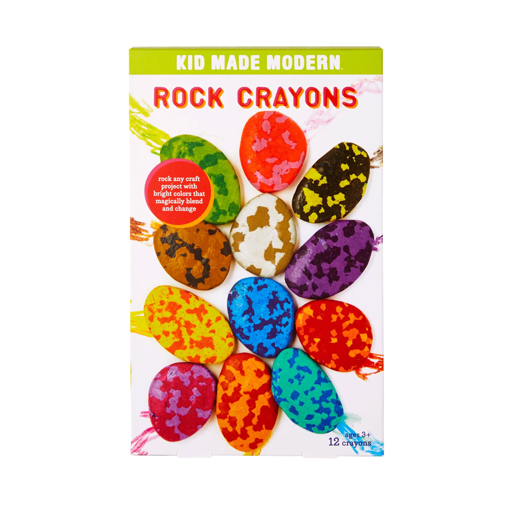 Kid Made Modern - Rock Crayons - 12 pc Set | Mapamundi Kids