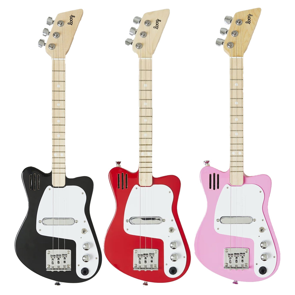 Loog Mini Electric Guitar in Red, Pink or Black | Mapamundi Kids