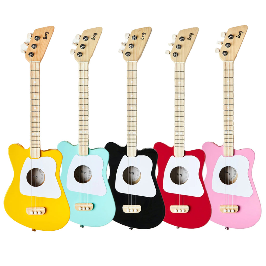 Loog Acoustic Mini Guitars - Red, Black, Mint, Yellow or Pink | Mapamundi Kids