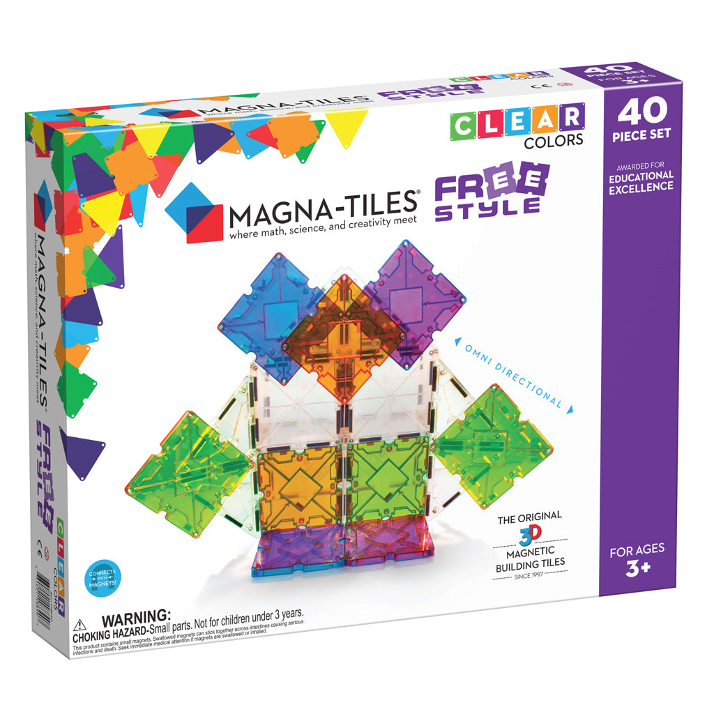 Magna-Tiles Free Style 40 Pc Set | Mapamundi Kids