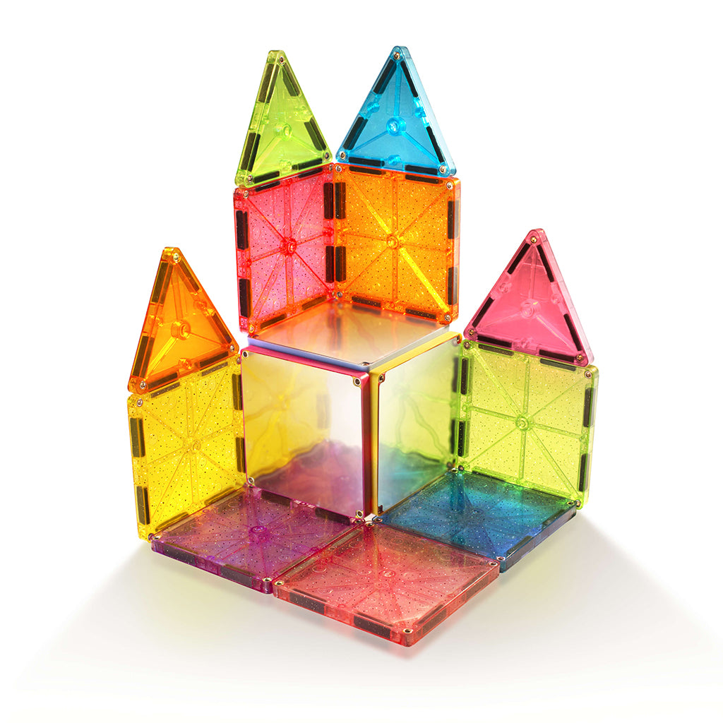 Magna-Tiles Stardust Glitter & Mirrors 15 Pc Set | Mapamundi Kids