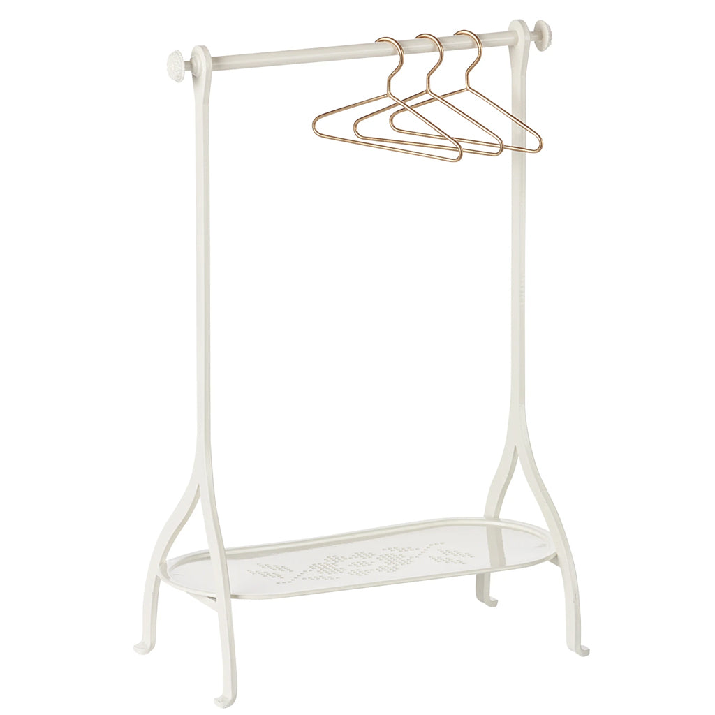 Maileg - Metal Clothes Rack with Hangers - Off White | Mapamundi KIds