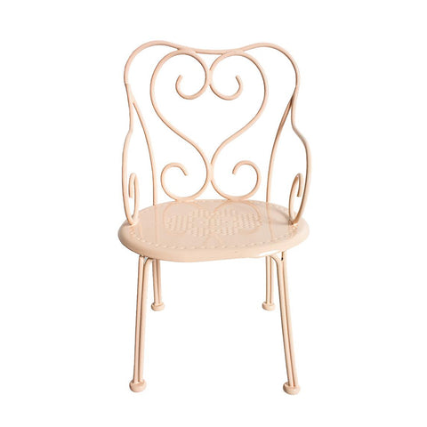 Maileg - Romantic Chair, Mini - Powder - Designed in Denmark