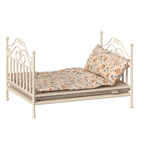 Maileg - Vintage Bed, Micro - Soft Sand - Designed in Denmark