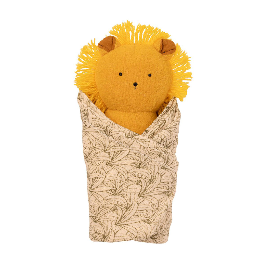 Manhattan Toy - Lion Rattle and Burp Cloth Set | Mapamundi Kids
