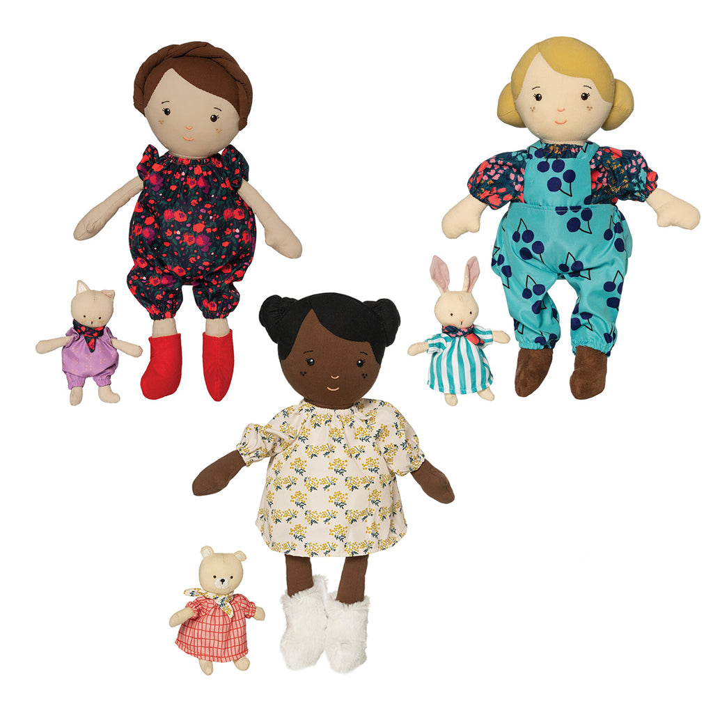 Manhattan Toy - Playdate Friends Dolls: Ollie, Freddie & Harper | Mapamundi Kids
