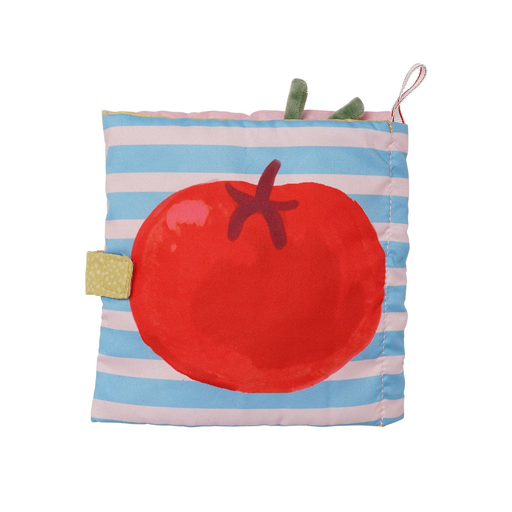 Manhattan Toy Mini-Apple Farm Soft Activity Crinkle Book for Baby /& Toddler with Discovery Mirror and Textured Teether