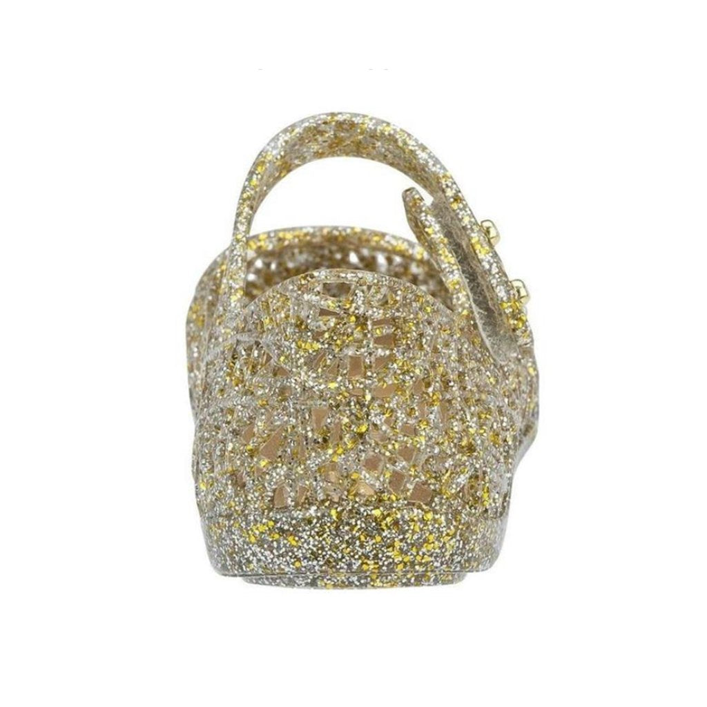 Mini Melissa Campana in Gold Glitter - Made in BrazilMini Melissa Campana in Gold Glitter - Made in Brazil | Mapamundi Kids