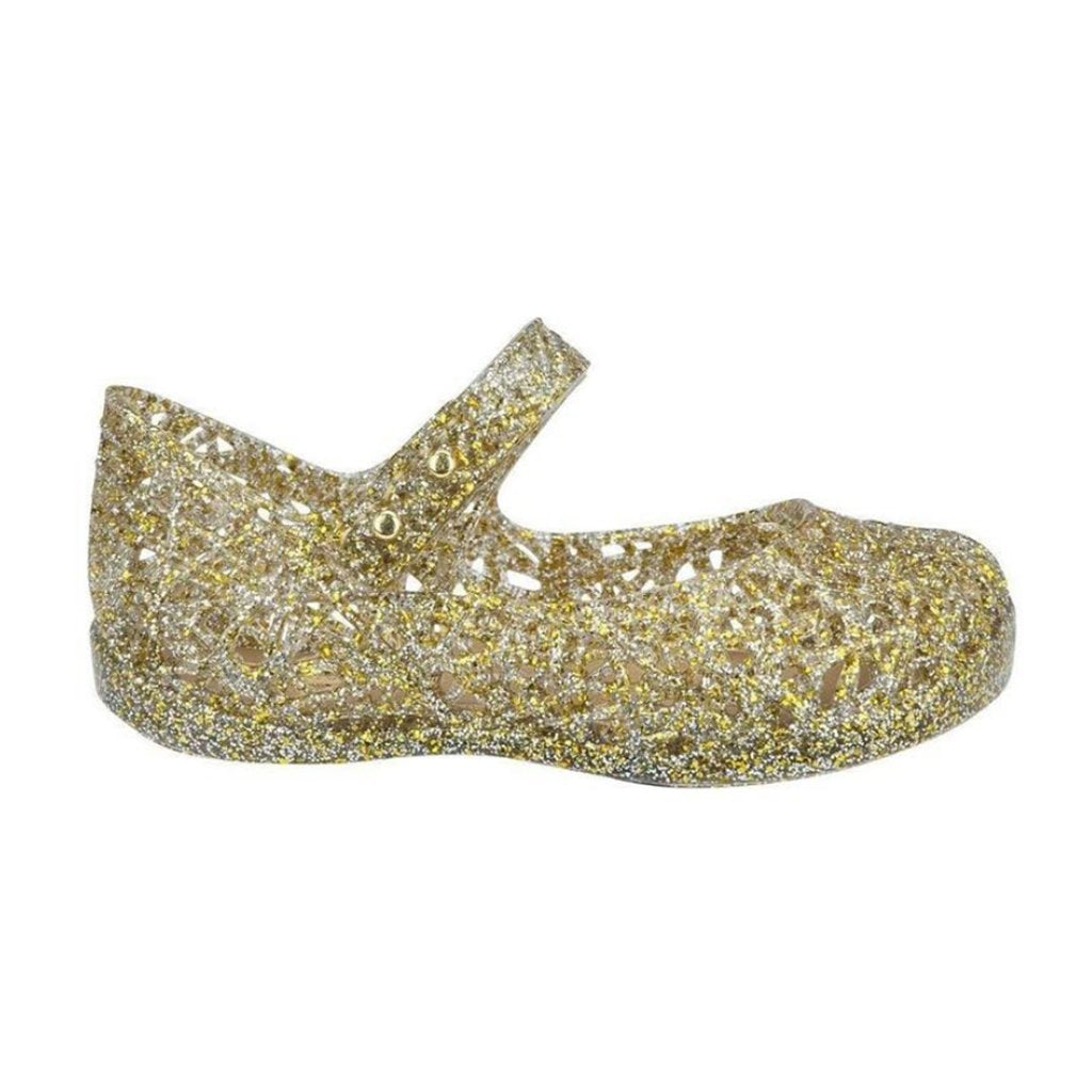 Mini Melissa Campana in Gold Glitter - Made in Brazil Mini Melissa Campana in Gold Glitter - Made in Brazil | Mapamundi Kids