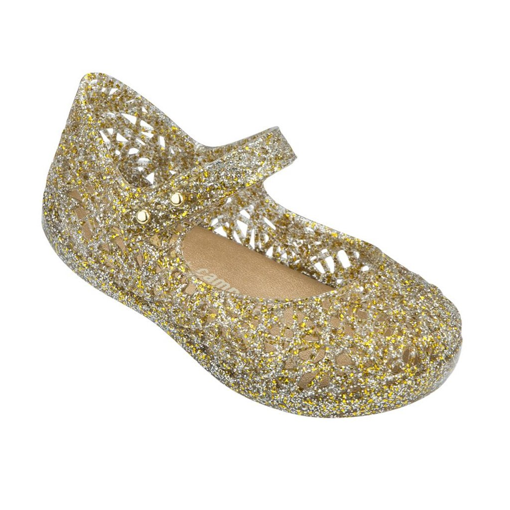 Mini Melissa Campana in Gold Glitter - Made in Brazil