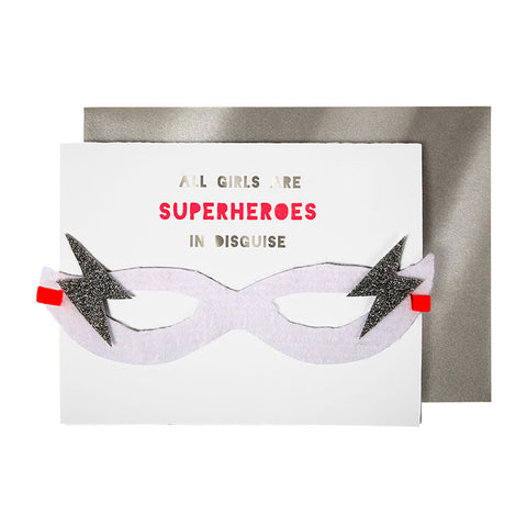 Girls Superhero Card