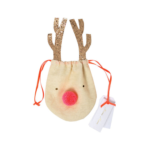 Reindeer Drawstring Pouch