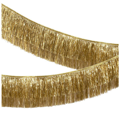 Meri Meri - Gold Tinsel Fringe Garland - Designed in the UK