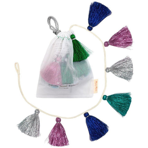 Meri Meri - Metallic Tassel Garland - Designed in the UK
