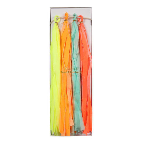 meri meri neon tassel garland party decor