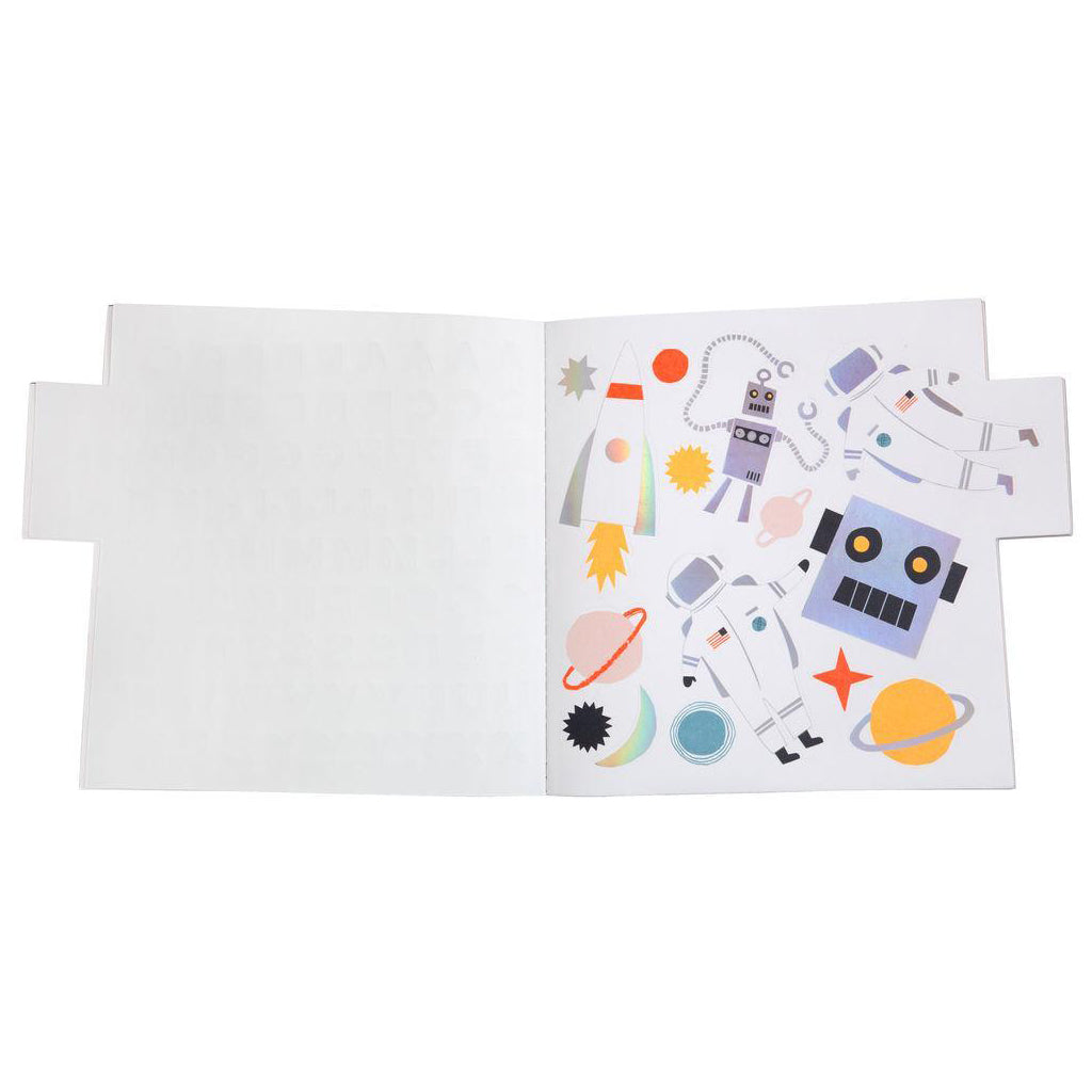 Meri Meri - Sticker Sketchbook - Holographic Robot | Mapamundi Kids