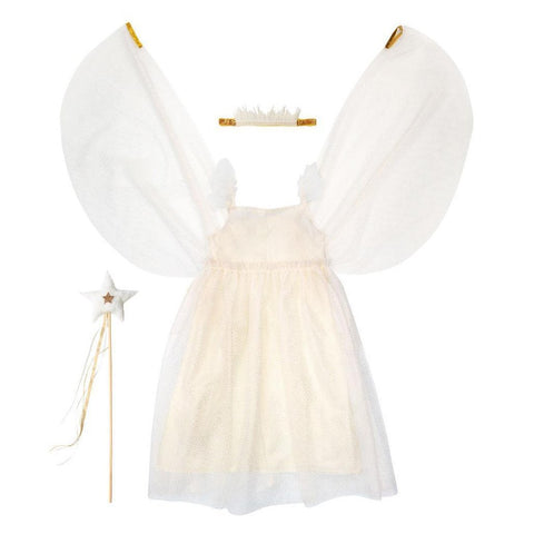 meri meri white tulle fairy dress up kit crown and wand