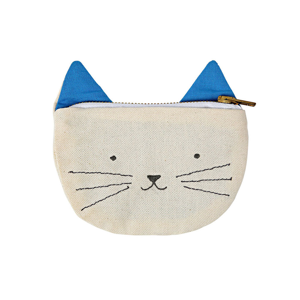 Meri Meri - Canvas Cat Pouch - Designed in England