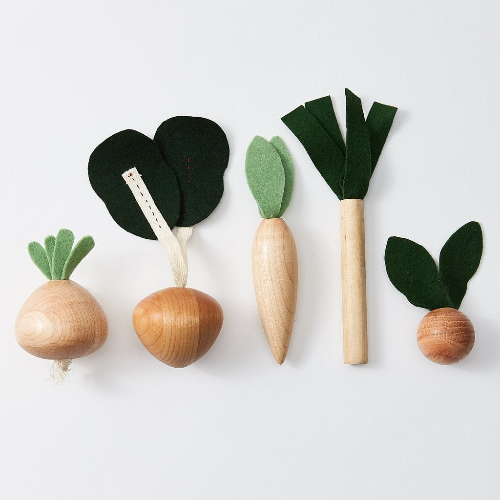 Milton & Goose - Wooden Veggies Play Food Set - Made in Ohio, USA