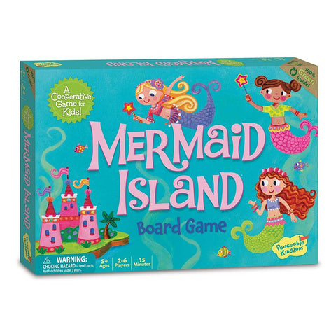 Peaceable Kingdom by Mindware - Mermaid Island Board Game