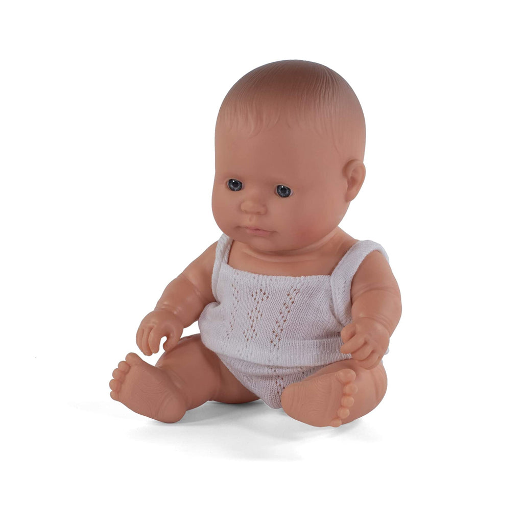 Miniland Educational - Newborn Baby Doll - Caucasian Boy | Mapamundi Kids