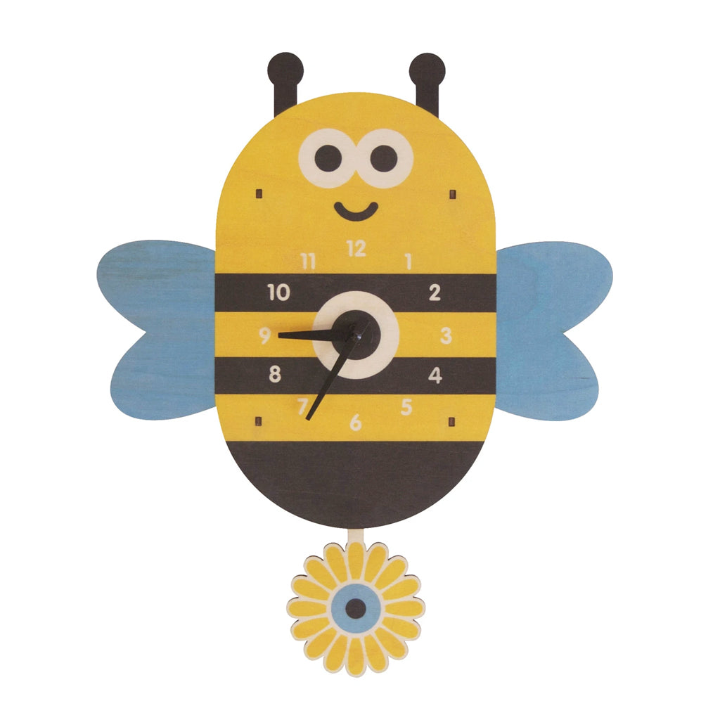 Modern Moose - Bee Pendulum Clock - Made in the USA | Mapamundi Kids