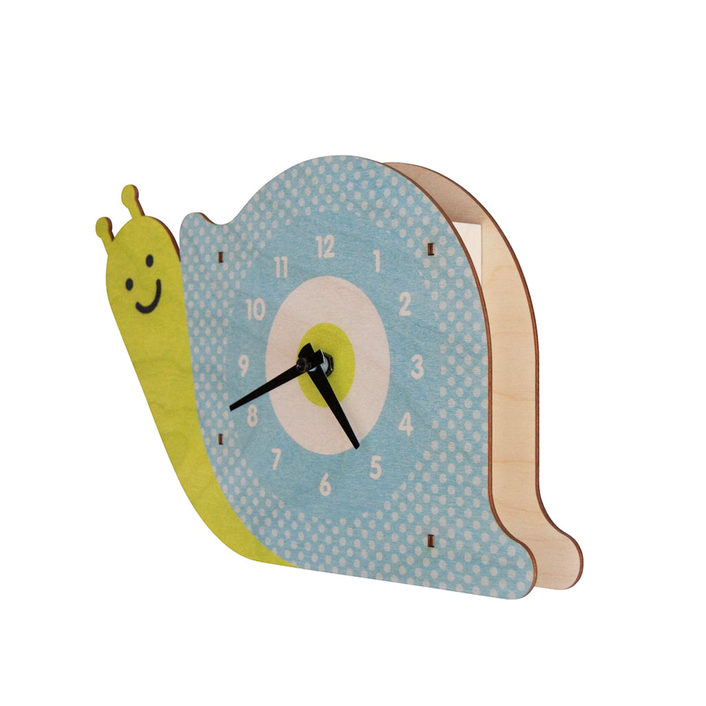 Modern Moose - Snail Wall Clock - Made in the US | Mapamundi Kids