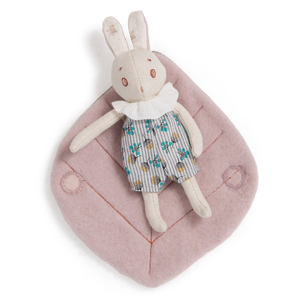 Moulin Roty - Apres le Pluie Small Rabbit in Leaf + Box | Mapamundi Kids