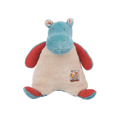 Moulin Roty - Soft Hippo Rattle - Designed in France