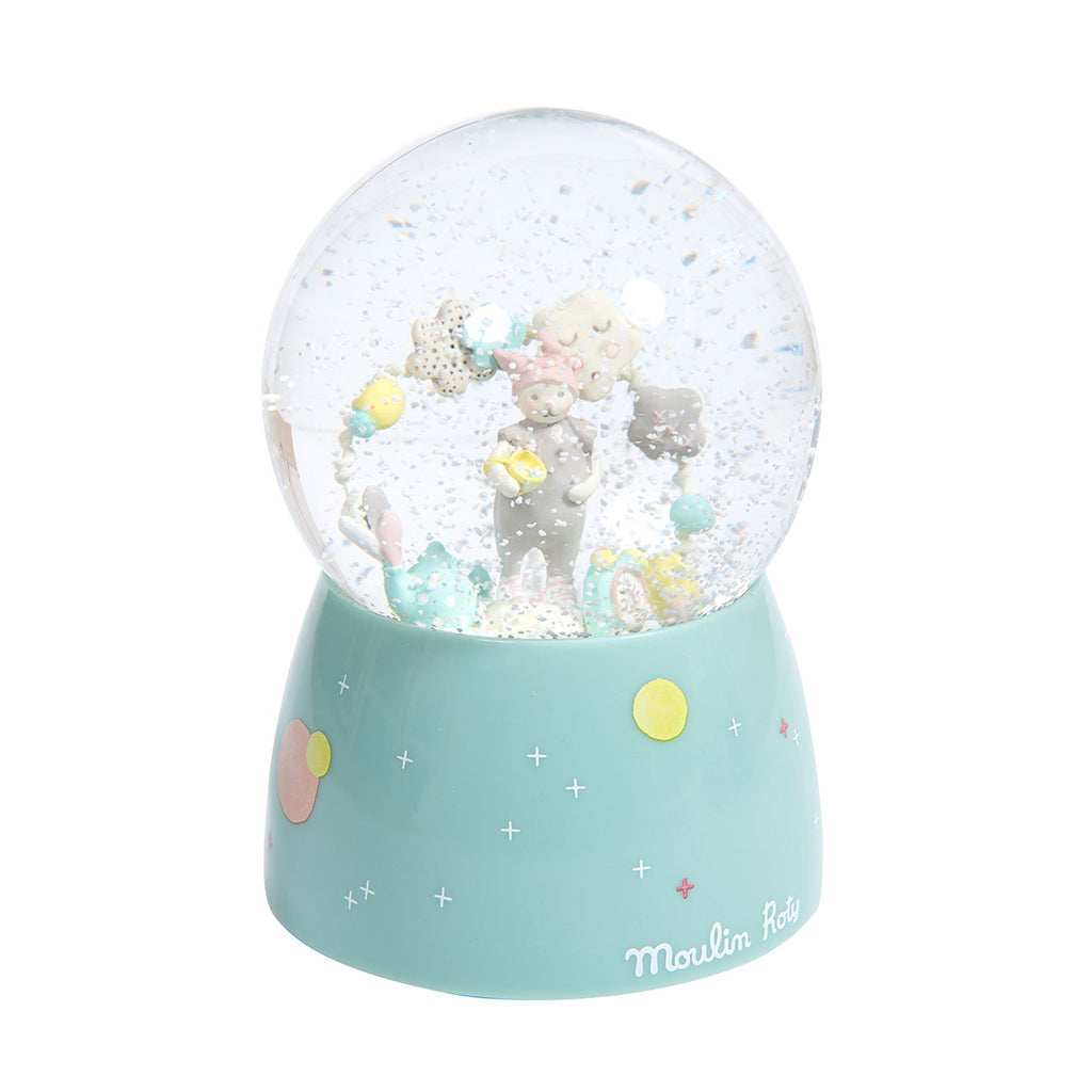 Moulin Roty - Les Petits Dodos Musical Snow Globe - Designed in France