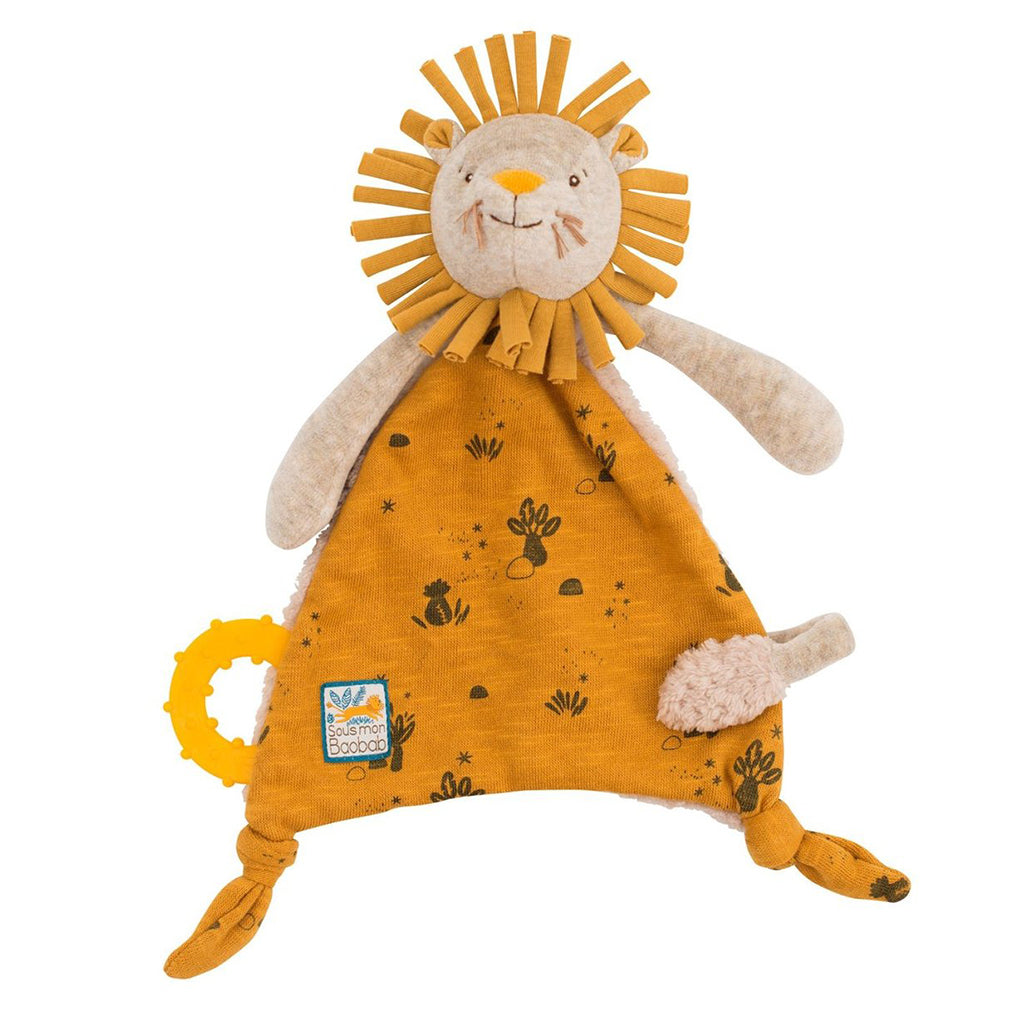Moulin Roty - Lion Lovey with Pacifier Holder | Mapamundi Kids