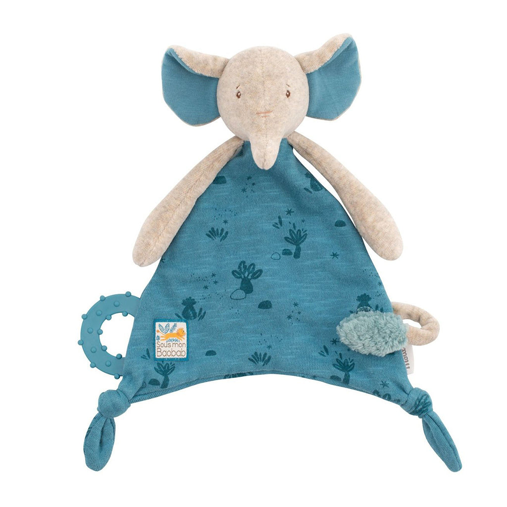 Moulin Roty - Elephant Lovey with Pacifier Holder | Mapamundi Kids