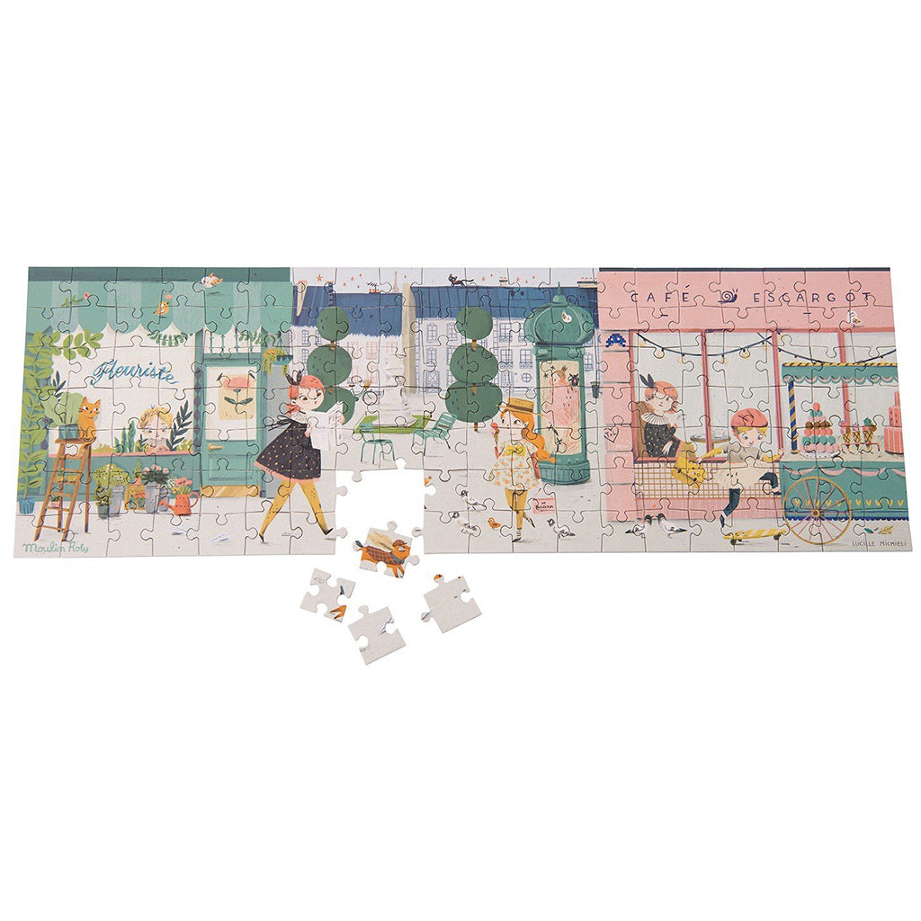 Moulin Roty - Parisian Street Puzzle - 140pc - Designed in France
