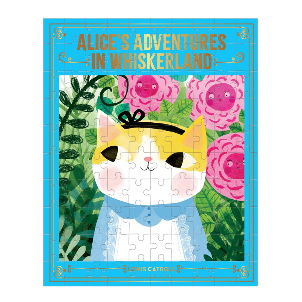 Mudpuppy - Bookish Cats: Alice's Adventures in Whiskerland Puzzle | Mapamundi Kids