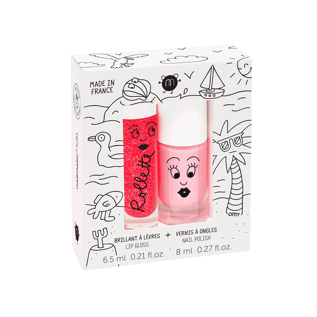 Nailmatic - Two-Piece Set: Gloss & Nail Polish | Mapamundi Kids