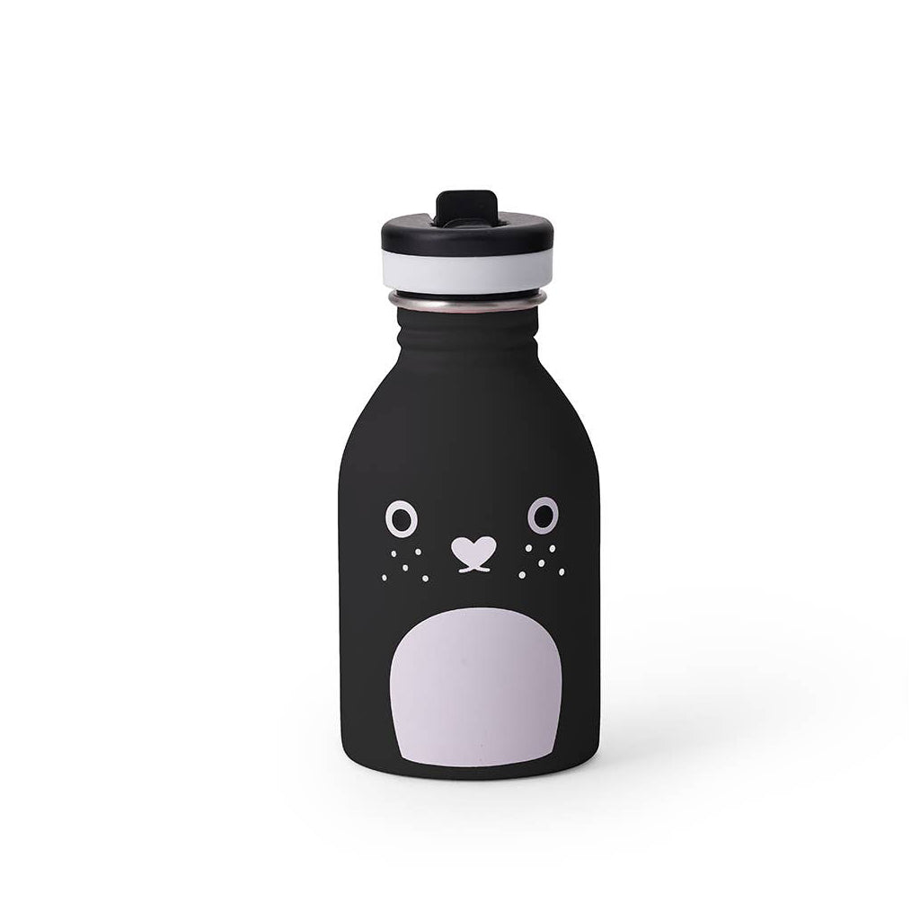 Noodoll - Stainless Steel Water Bottle - Riceberry Black | Mapamundi Kids